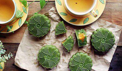trung thu với bánh trà xanh givral