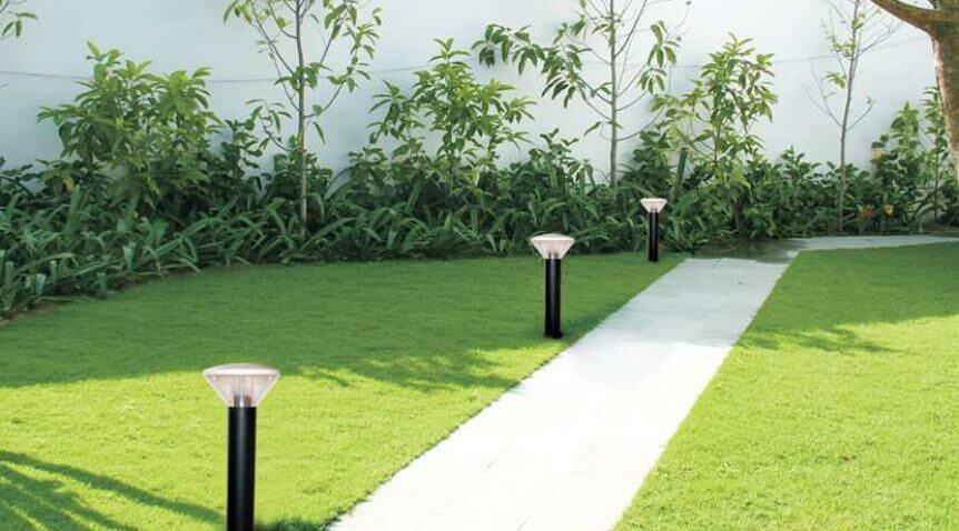 Đèn led sân vườn trụ