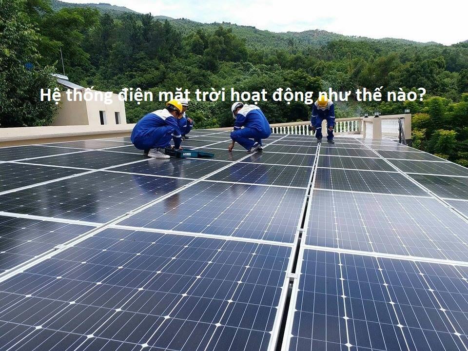 điện mặt trời hoạt động