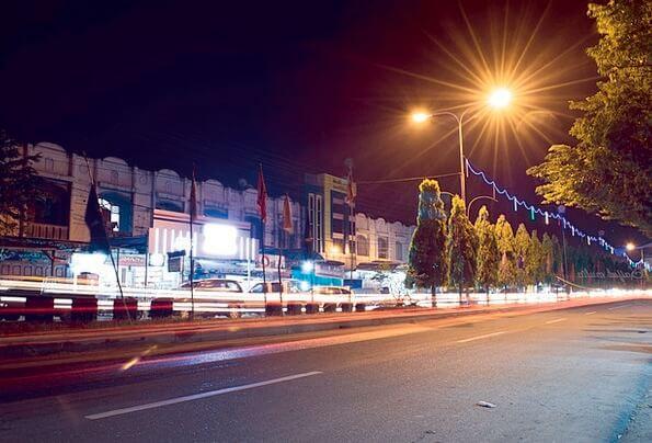 Đèn led đường trong thành phố