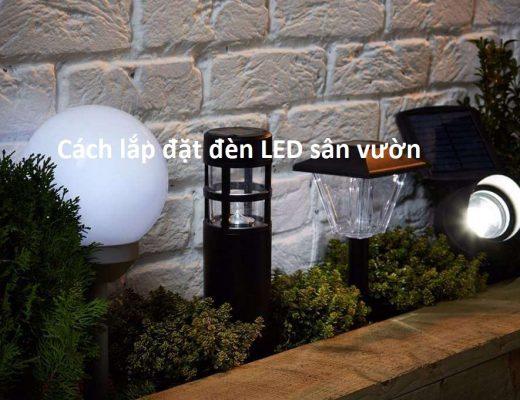 Lắp đặt đèn năng lượng mặt trời