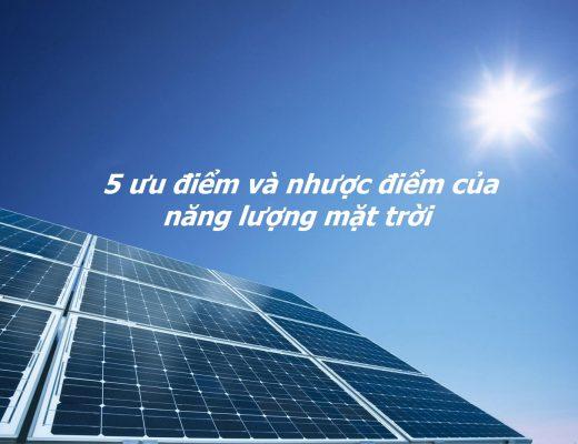 ưu điểm năng lượng mặt trời