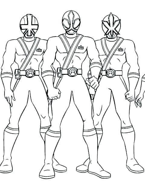 Bộ 3 anh em siêu nhân tranh tô màu cho bé