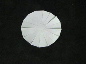 cắt giấy thành hình cầu