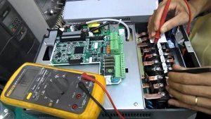 Lỗi nguồn điện vào và ra của biến tần