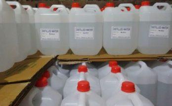 Nước cất (RO) trong bình ắc quy